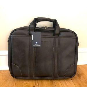 Ben Sherman laptop messenger bag dark grey